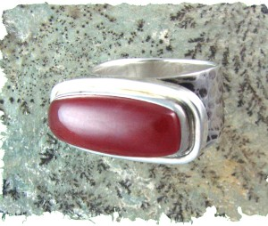 Rhodochrosite Ring handcrafted by Darlene Armstrong